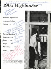 Page 7, 1965 Edition, Highland High School - Highlander Yearbook (Anderson, IN) online yearbook collection