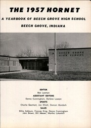 Page 7, 1957 Edition, Beech Grove High School - Hornet Yearbook (Beech Grove, IN) online yearbook collection