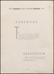 Page 4, 1939 Edition, Demotte High School - Keen Keener Yearbook (Demotte, IN) online yearbook collection
