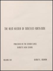 Page 5, 1949 Edition, Demotte High School - Keen Keener Yearbook (Demotte, IN) online yearbook collection