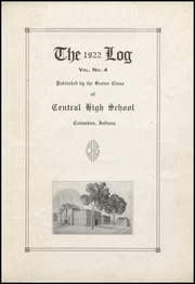 Page 7, 1922 Edition, Columbus North High School - Log Yearbook (Columbus, IN) online yearbook collection