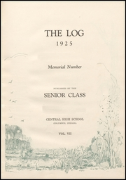 Page 9, 1925 Edition, Columbus North High School - Log Yearbook (Columbus, IN) online yearbook collection