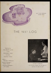 Page 5, 1937 Edition, Columbus North High School - Log Yearbook (Columbus, IN) online yearbook collection