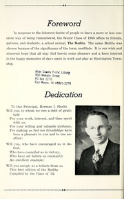 Page 6, 1935 Edition, Huntington Township School - Medita Yearbook (Huntington, IN) online yearbook collection