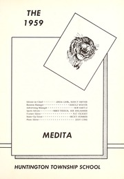 Page 5, 1959 Edition, Huntington Township School - Medita Yearbook (Huntington, IN) online yearbook collection