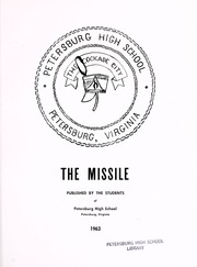 Page 5, 1963 Edition, Petersburg High School - Missile Yearbook (Petersburg, VA) online yearbook collection