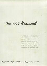 Page 7, 1947 Edition, Nappanee High School - Napanet Yearbook (Nappanee, IN) online yearbook collection
