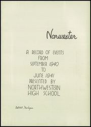 Page 7, 1941 Edition, Northwestern High School - Norwester Yearbook (Detroit, MI) online yearbook collection