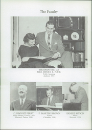 Page 12, 1957 Edition, Fountain Valley School - Owl Yearbook (Colorado Springs, CO) online yearbook collection