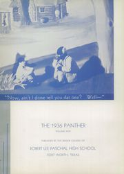 Page 6, 1936 Edition, R L Paschal High School - Panther Yearbook (Fort Worth, TX) online yearbook collection