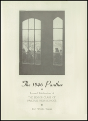 Page 5, 1946 Edition, R L Paschal High School - Panther Yearbook (Fort Worth, TX) online yearbook collection