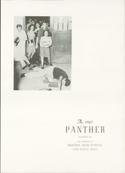 Page 5, 1947 Edition, R L Paschal High School - Panther Yearbook (Fort Worth, TX) online yearbook collection