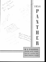 Page 3, 1954 Edition, R L Paschal High School - Panther Yearbook (Fort Worth, TX) online yearbook collection