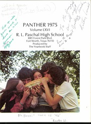 Page 5, 1975 Edition, R L Paschal High School - Panther Yearbook (Fort Worth, TX) online yearbook collection