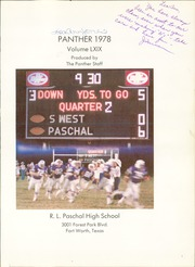 Page 5, 1978 Edition, R L Paschal High School - Panther Yearbook (Fort Worth, TX) online yearbook collection