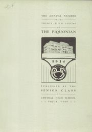 Page 3, 1934 Edition, Piqua Central High School - Piquonian Yearbook (Piqua, OH) online yearbook collection