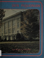 Page 1, 1974 Edition, Piqua Central High School - Piquonian Yearbook (Piqua, OH) online yearbook collection