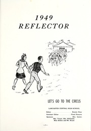 Page 5, 1949 Edition, Lancaster Central High School - Reflector Yearbook (Bluffton, IN) online yearbook collection
