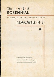 Page 5, 1935 Edition, New Castle Chrysler High School - Rosennial Yearbook (New Castle, IN) online yearbook collection