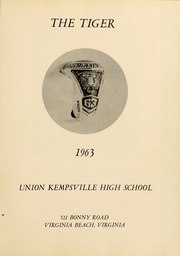 Page 5, 1963 Edition, Union Kempsville High School - Tiger Yearbook (Virginia Beach, VA) online yearbook collection