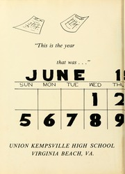 Page 6, 1966 Edition, Union Kempsville High School - Tiger Yearbook (Virginia Beach, VA) online yearbook collection