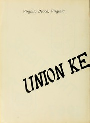 Page 6, 1967 Edition, Union Kempsville High School - Tiger Yearbook (Virginia Beach, VA) online yearbook collection