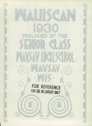Page 5, 1930 Edition, Wausau High School - Wahiscan Yearbook (Wausau, WI) online yearbook collection