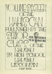 Page 7, 1932 Edition, Wausau High School - Wahiscan Yearbook (Wausau, WI) online yearbook collection