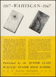 Page 5, 1947 Edition, Wausau High School - Wahiscan Yearbook (Wausau, WI) online yearbook collection