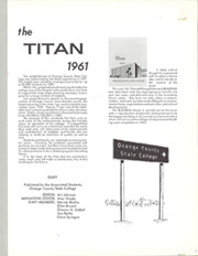 Page 5, 1961 Edition, Cal State Fullerton - Titan Yearbook (Fullerton, CA) online yearbook collection