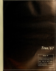 Page 5, 1967 Edition, Cal State Fullerton - Titan Yearbook (Fullerton, CA) online yearbook collection