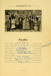 Page 13, 1932 Edition, Oswego High School - Paradox Yearbook (Oswego, NY) online yearbook collection