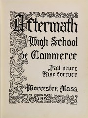 Page 7, 1924 Edition, Worcester High School of Commerce - Caduceus Yearbook (Worcester, MA) online yearbook collection