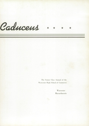 Page 9, 1941 Edition, Worcester High School of Commerce - Caduceus Yearbook (Worcester, MA) online yearbook collection
