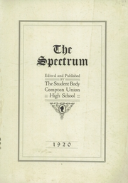Page 3, 1920 Edition, Compton High School - El Companile Yearbook (Compton, CA) online yearbook collection