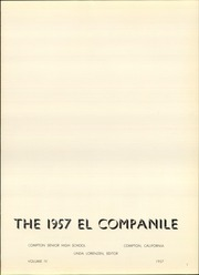 Page 5, 1957 Edition, Compton High School - El Companile Yearbook (Compton, CA) online yearbook collection