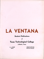 Page 4, 1941 Edition, Texas Tech University - La Ventana Yearbook (Lubbock, TX) online yearbook collection