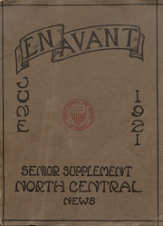 Page 1, 1921 Edition, North Central High School - Tamarack Yearbook (Spokane, WA) online yearbook collection