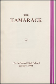Page 5, 1931 Edition, North Central High School - Tamarack Yearbook (Spokane, WA) online yearbook collection