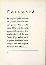 Page 8, 1937 Edition, Decatur High School - Golden Memories Yearbook (Decatur, AL) online yearbook collection