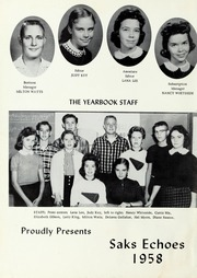 Page 6, 1958 Edition, Saks High School - Saks Echoes Yearbook (Anniston, AL) online yearbook collection