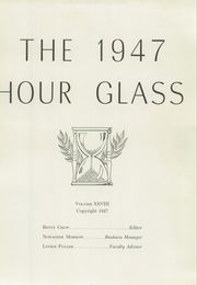 Page 9, 1947 Edition, Anniston High School - Hour Glass Yearbook (Anniston, AL) online yearbook collection