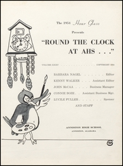 Page 5, 1954 Edition, Anniston High School - Hour Glass Yearbook (Anniston, AL) online yearbook collection