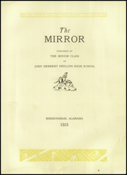 Page 9, 1931 Edition, Phillips High School - Mirror Yearbook (Birmingham, AL) online yearbook collection