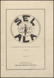Page 3, 1925 Edition, Selma High School - Sel Ala Yearbook (Selma, AL) online yearbook collection