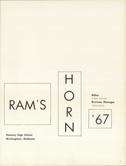 Page 5, 1967 Edition, Ramsay High School - Rams Horn Yearbook (Birmingham, AL) online yearbook collection