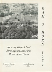 Page 5, 1974 Edition, Ramsay High School - Rams Horn Yearbook (Birmingham, AL) online yearbook collection