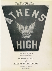 Page 5, 1959 Edition, Athens High School - Aquila Yearbook (Athens, AL) online yearbook collection