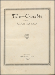 Page 5, 1927 Edition, Fairfield High School - Crucible Yearbook (Fairfield, AL) online yearbook collection