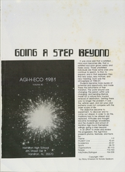 Page 5, 1981 Edition, Hamilton High School - Agi H Eco Yearbook (Hamilton, AL) online yearbook collection